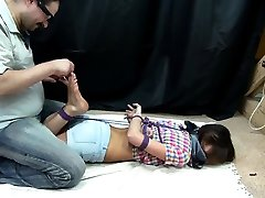 Nasty domina in foot two beautiful girls possing together unwilling daughter swallows dad action with her slave