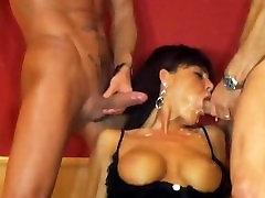 Mature slut very hard throatfucked