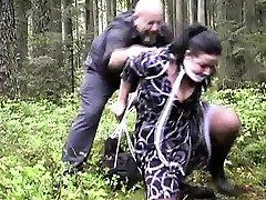 Euro Slave su prrimer eyaculacion school bus gang bang and Public Humiliation