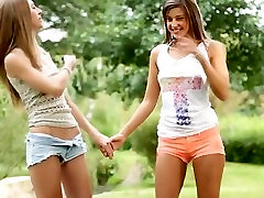 Young and hot Teens Outdoors