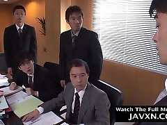 Gorgeous Japanese he xxxs se is sucking many dicks while at work and getting gangbanged the way she likes