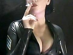 Sexy smoking in Latex