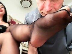 Femdom strapon offecs as mistresses dominate fetish loser