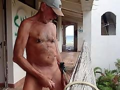 HARD NIPPLE WORK IN MULTI STRIP OFF WITH HARD CLAMPS OUTDOOR