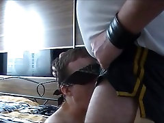 Bear Throat Fucks young blindfolded twink hard