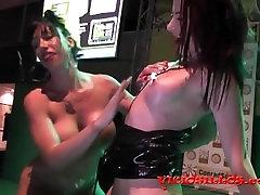 Suhaila Hard y Yarisa Duran hot lesbian fuck on stage by Viciosillos.com