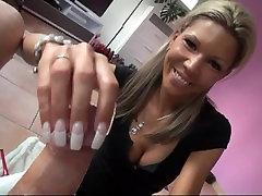 German Long nailed handjob
