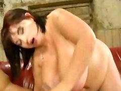 Huge Boob British BBW Titty Fucks and Sucks Cock