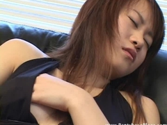 Asian mistress masturbates her pussy all by herself