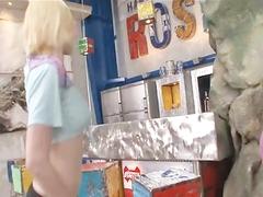Rocco Eats Young Blonde Teen Ass Then Throat Fucks Another