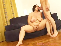 fat bitch gets rammed on couch Bbw Blowjob Cumshot Hardcore Large Girls