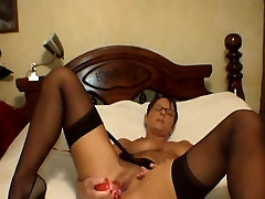 Plays with herself then gets creampied