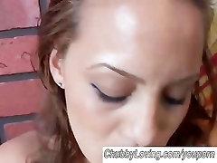 Pretty plump amateur has big tits