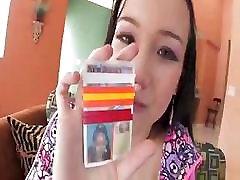 Sexy Asian teen Amai Liu in braces has sex