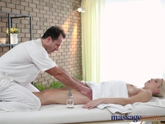 Massage Rooms Girl with big natural boobs and soft skin has intense orgasm