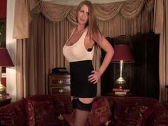 Cougar Leigh Darby Licks Big Tits