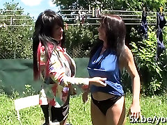 French mature Vega fucked in her garden