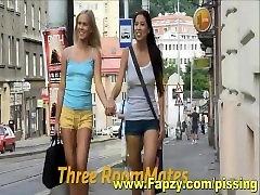 Beautiful Lesbian Teens Pissing Threesome