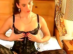 Vintage German slut in stockings masturbating