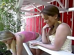 Two teenage lesbians.