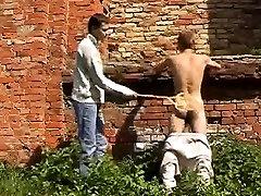 Outdoor Whippin Gay Men