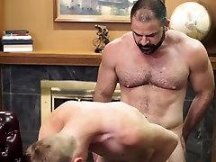 Bear ass fucks mormon guy