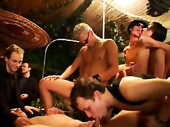 Teenagers in underwear at party gay is spunking to a rock ha