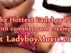 Ladyboy Schoolgirl June Bareback