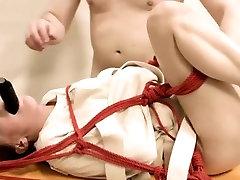 Extreme dildo anal erotica with rope BDSM teacher