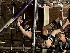 Hairy male arm pits Shoving some large fucktoys into Milo, R