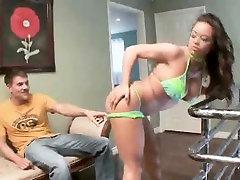 Mia Lelani In Panties And Sucks Cock