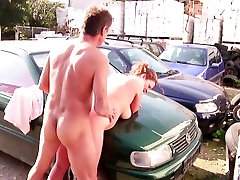 Mom and Dad Show her Daughters How to Fuck Outdoor