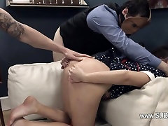 pleasing BDSM anal action in gangbang
