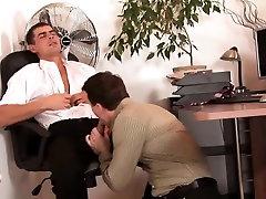 Gay office bareback fuck