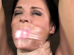 Restrained bdsm babes small tits whipped