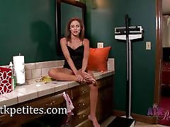 Natasha White petite weigh in video and interview