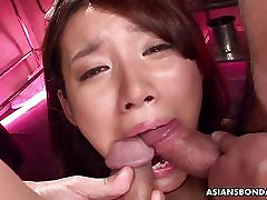 Asian bitch has a threesome that is bdsm