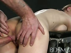 grip lag and hand XXX Big breasted sub gets hard anal
