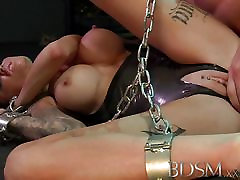 BDSM XXX Feisty slave girls learn the dad fuck young ass way