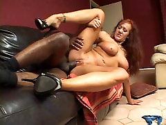 Big tits hottie sucks & fucks big black cock