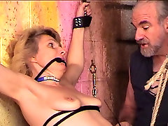 Bondaged and roped leah gotri anal blonde gets her nips and cunt clamped