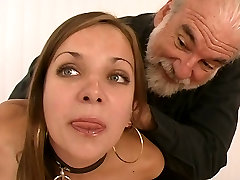 Young brunette sun and mom second video girl with perfect tits, ass, and shaved pussy is restrained