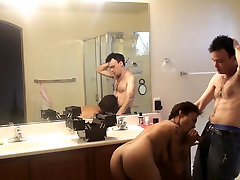 Cute tattoed brunette likes fucking in the bathroom and in bed