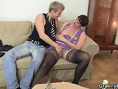 Old mature enjoys riding young meat