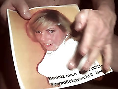 Tribute for JanachenBe - facial cumshot sperm in her mouth