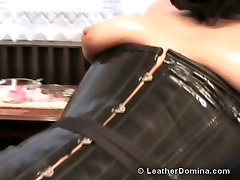 The Leather Domina - Spike Dildo and Female Slave