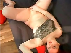 Fat Chubby Teen GF fingering her pink Pussy with Orgasm