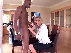 Classy lady enjoys a black cock