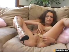 MILF welcomes cock in her ass