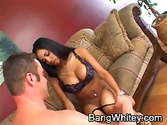Black girl loves her pussy licked and eaten by white guy